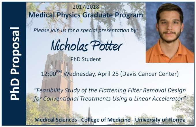 Nicholas Potter PhD Proposal Announcement