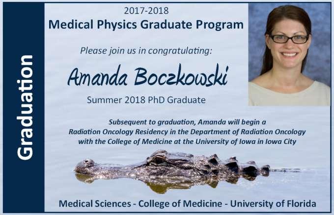 Amanda Boczkowski PhD Graduation Announcement