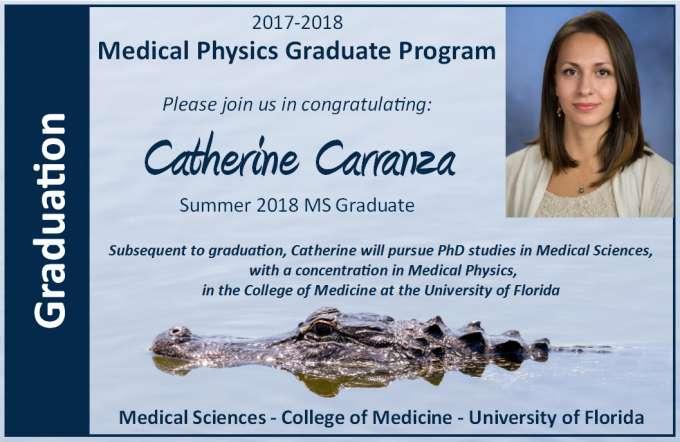 Catherine Carranza Masters Graduation Announcment