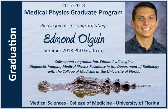 Edmond Olquin PhD Graduation Announcement