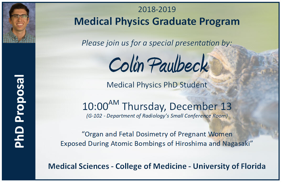 Colin Paulbeck PhD Proposal Announcement