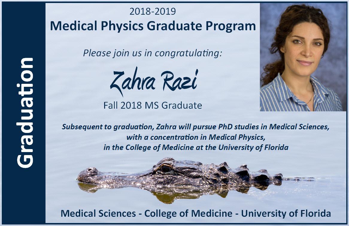 Zahra Razi Graduation Announcment