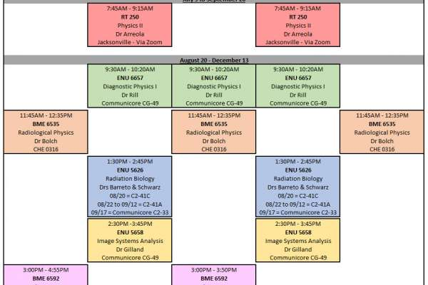 2019 Fall Schedule of Courses Revised