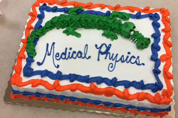 Medical Physics Fall 2019 New Student Welcome Reception Cake
