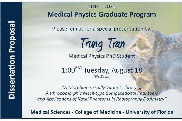 PhD Proposal Announcement Trung Tran