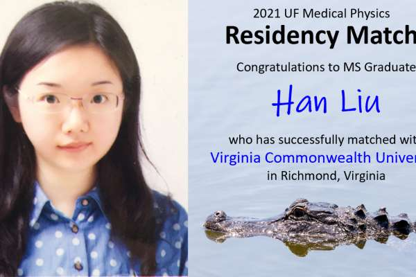Residency Match Announcement - Han Liu
