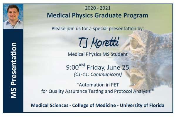 MS Presentation Announcement - TJ Moretti