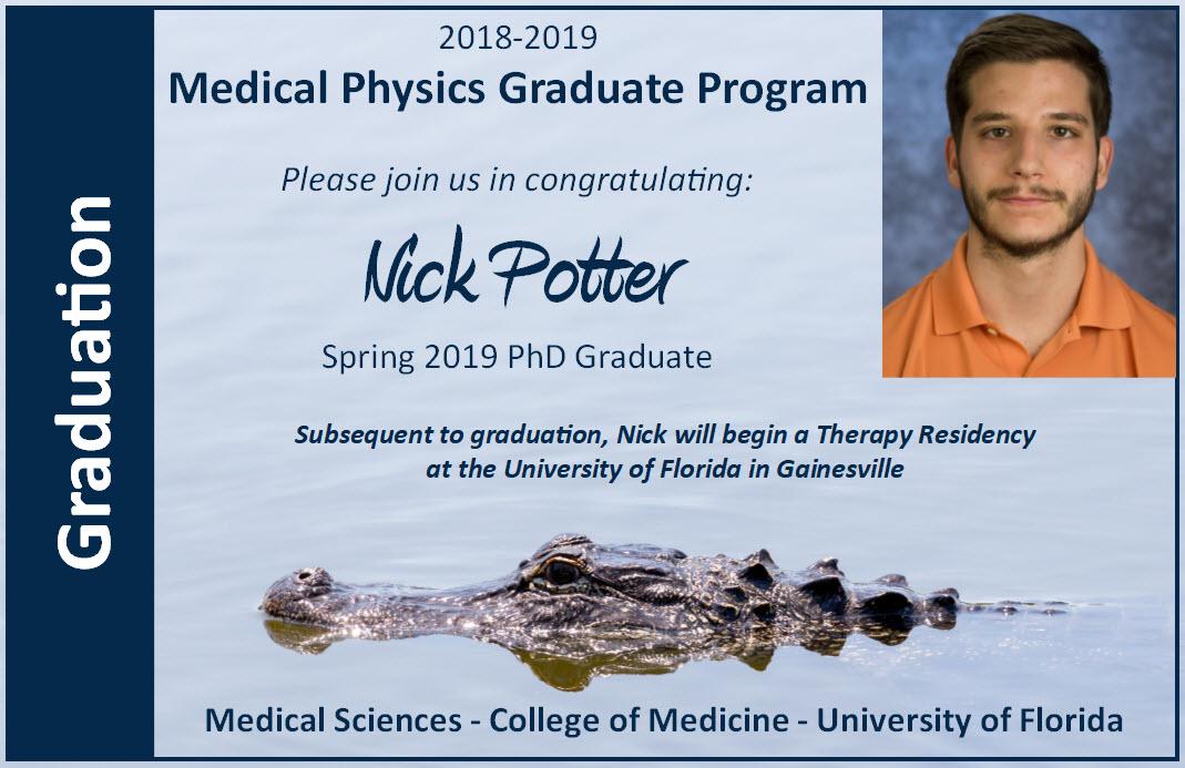 Nick Potter Graduation Announcement