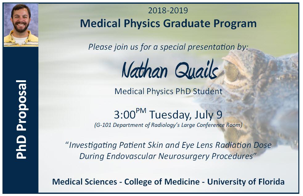 Nathan Quails PhD Proposal Announcement