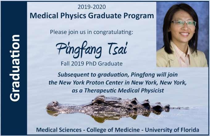 Student Pingfang Tsai PhD Graduation Announcement