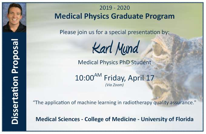 PhD Student Karl Mund PhD Proposal Announcement