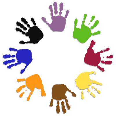 Clipart, Colored Hands
