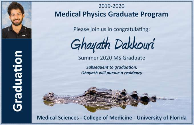 Graduation Announcement - Ghayath Dakkouri