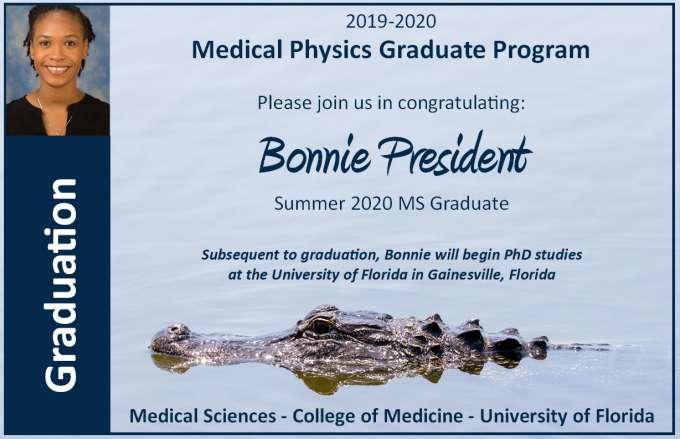 Graduation Announcement - Bonnie President